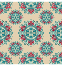 Damask floral ornamental pattern vector