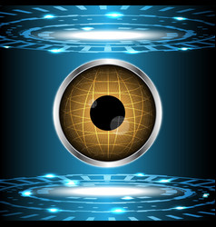 Abstract technology digital circle with eye globe vector