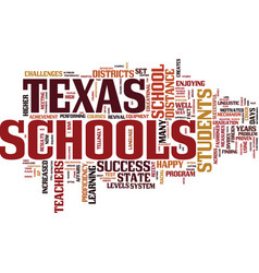 Texas schools set an example text background word vector