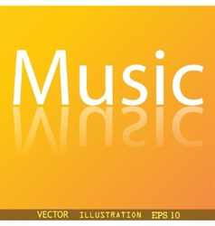 Music icon symbol flat modern web design with vector