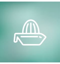 Lemon squeezer thin line icon vector