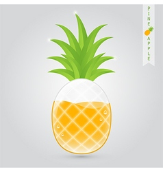 Pineapple fruit juice vector