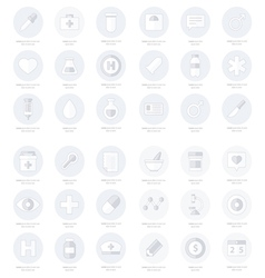 Set of flat medical icons line icons style vector
