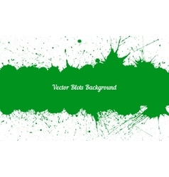 Green ink splashes with space for text over vector