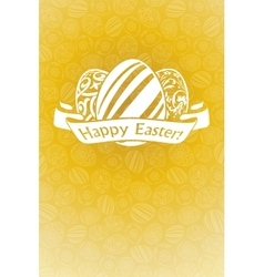 Easter holiday card vector
