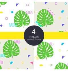 Abstract monstera tropical palm floral vector image