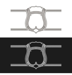 Vintage frame label black and white stickers vector