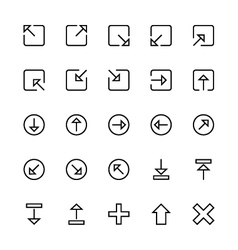 User interface colored line icons 7 vector