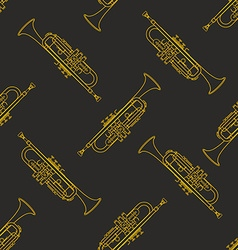 Classical music instruments seamless pattern vector