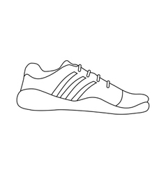 Sneaker shoe icon in outline style vector