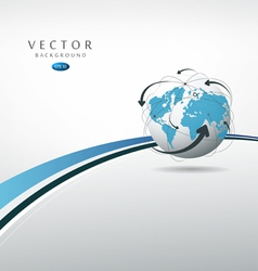 Globe connections concept design vector image