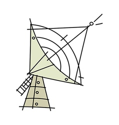 An antenna is placed vector image vector image