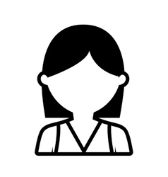 Avatar woman head graphic outline vector