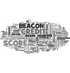 Beacon credit score text word cloud concept vector