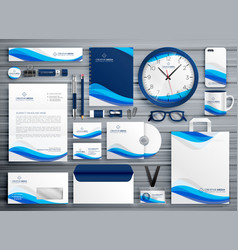 Brans stationery design for your business in blue vector