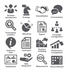 Business management icons pack 18 vector