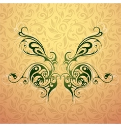 Butterfly tattoo shape vector