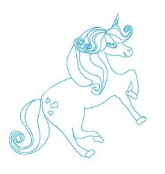 cartoon unicorn vector image vector image
