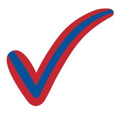 check mark mongolia flag symbol elections voting vector image vector image