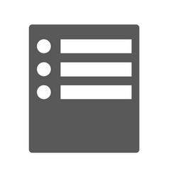 checklist icon simple vector image