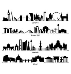 city silhouette design london vector image vector image