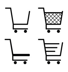 collection of shopping cart icons vector image vector image