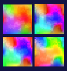Cover templates with colorful holographic effect vector