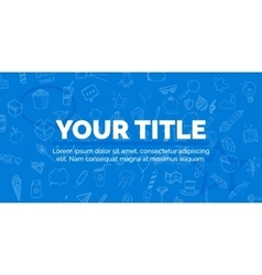 cover your title on blue background with objects vector image