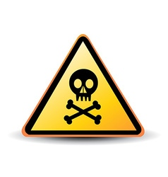 danger sign with skull symbol vector image