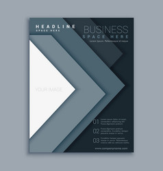 Elegant minimal business flyer brochure design vector