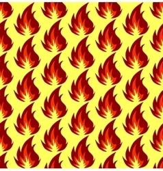 Fire symbols seamless pattern vector image