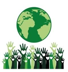 hands up design vector image