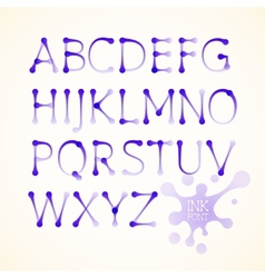 ink uppercase alphabet vector image vector image