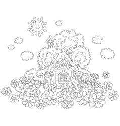 Lodge and daisies vector