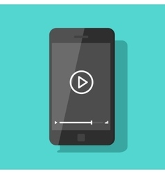Mobile phone video player smartphone vector image vector image