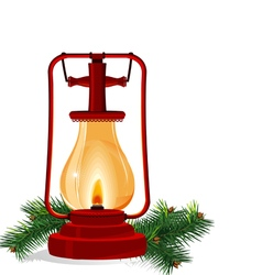 New years lantern vector