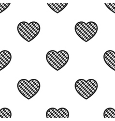 Oktoberfest heart icon in black style isolated on vector image vector image