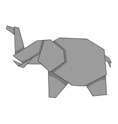 Origami elephant icon cartoon style vector