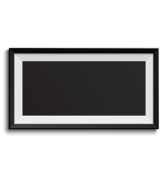 Picture frame isolated on white background vector
