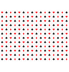 playing card signs seamless pattern casino vector image
