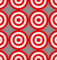 Seamless pattern of targets over grey vector image vector image