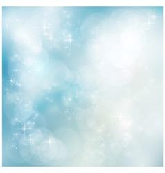 Silver blue winter Christmas bokeh vector image vector image