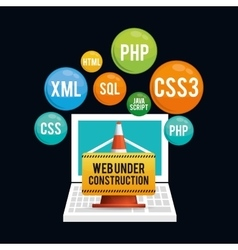 Site under construction design vector