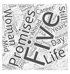The good years are still ahead of you word cloud vector