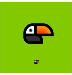 toucan tropical bird logo vector image
