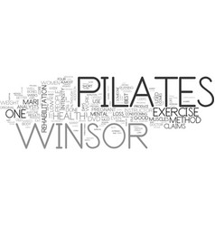 Winsor pilates what can it do for me text word vector