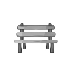 Park bench icon black monochrome style vector