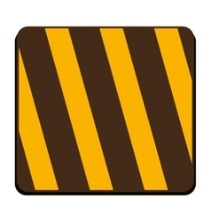 square of traffic barrier icon vector image