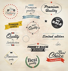 Retro styled sale labels vector