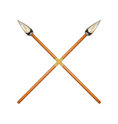 Two crossed ancient spears vector